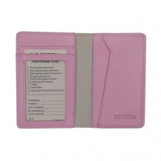Обложка для ID паспорта и карт с pay pass. С RFID блокировкой. Натуральная кожа розового цвета Locker Id Pink