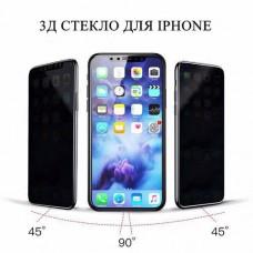 Защитное стекло 3д анти-шпион против подглядывания для iPhone