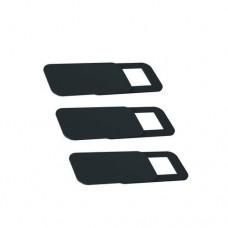 Защитная шторка для веб-камеры 3 шт прямоугольная черная